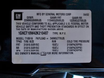 2002 Chevrolet Blazer Zr2 Off Road Ls For Sale Near