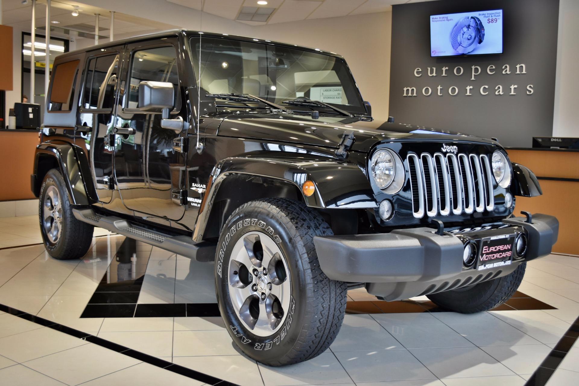 2016 jeep wrangler unlimited sahara for sale near middletown ct ct jeep dealer stock 202739. Black Bedroom Furniture Sets. Home Design Ideas